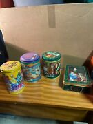 Collectible Christmas Candy Tins Mandm, Tootsie Rolls, Milkyway, Oreo