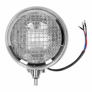 Round Motorcycle Headlight Retro Style Headlamp W/grill Clear Lens 12v 6in