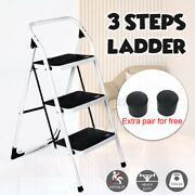 3 Steps Portable Anti-slip Ladder Extension Folding Safety Tread Home House Use