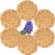 Truth Equeen Water Hyacinth Coasters For Wooden Table Farmhouse Coasters Coas...