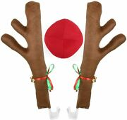 Car Reindeer Antler Kit Christmas Decorations Auto Accessories For Christmas