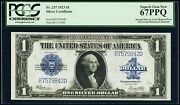 1923 1 Silver Certificate Banknote Fr-237 Pcgs Certified Gem Uncirculated-67ppq