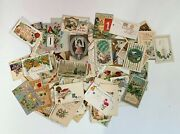 Lot Of 100 Antique And Vintage Early 1900's Post Cards Postcards All New Years G