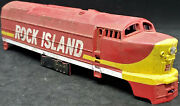 Tyco Rock Island Shark-nose Diesel Locomotive Shell Only . Ho Vintage