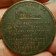 Vtg 1914 Baseball Schedule Token Pittsburgh Federal League The Nothern Hotel Bar