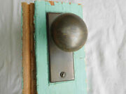 Small Antique Solid Brass 1 3/4 Knob Mortise Lever Handle Dead Bolt Lock 2
