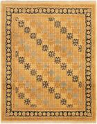 Vintage Hand-knotted Carpet 8and0390 X 9and03910 Traditional Oriental Wool Area Rug