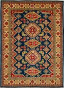 Vintage Geometric Hand-knotted Carpet 10and0390 X 13and0397 Traditional Wool Area Rug