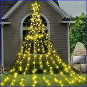 Christmas Decoration Solar Yard Star🎇 Lights 344 Led 8 Modes Outdoor Waterproof