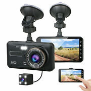 4 Dash Cam 1080p Hd Dual Camera Front And Rear View Cars Mount Video Record