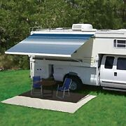 Freedom 13 Rv Awning Fabric.1and039w X 8.2and039ext. Vinyl Black/ Gray Box Rv Awning