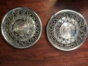 Cadillac Fleetwood Seville Wire Spoke Hubcaps 15 1975-1985 Set Of Two