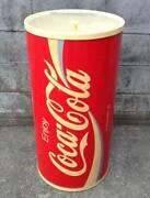 Coca-cola Red Vintage Metal Cooler Ice Chest Retro Collector's Items Cylindrical