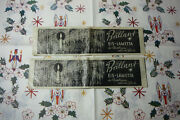 2 German Antique Icicles Christmas Tree Lead Foil Tinsel Silver Brilliant 1950s