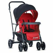 Joovy Caboose Graphite Stroller Stand On Tandem Sit And Stand Red