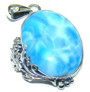 Best Amazing Quality Larimar From Dominican Republic .925 Sterling Silver Hand