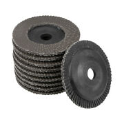 4 Inch Flap Wheels 72 Page Grinding For Angle Grinders 120 Grits 10 Pcs