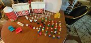 Vintage Fisher Price Little People Family Farm 915 With Many Extras Large Lot