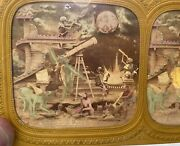 Hand Colored 1860andrsquos French Satan Devil Skeleton Diableries Tissue Stereoview