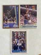 92 Shaquille Oneal 3 Card Rookie Lot Topps, Fleer And Fleer Ultra Great Cards