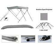 Aluminum 3-bow Bimini Top Compatible With Glastron Sierra 165 Ss O/b 1989