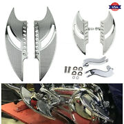 Chrome Front Rear Floorboards Foot Pegs Mount Fit For Harley Touring 1993-up