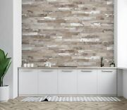 3d White Lacquered Wood Zhu6195 Wallpaper Wall Mural Removable Self-adhesive Zoe