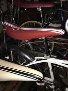 Schwinn Apple Krate Seat. Sting Ray 1968.style Red/ White Stripe Seat Only Mint