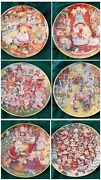 Lot Of 6 Limited Edition Bill Bell Cat Plates From The Franklin Mint.