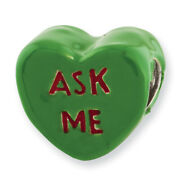 Sterling Silver Reflections Kids Ask Me Enameled Heart Bead Qrs2929
