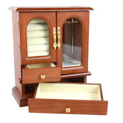 1pc Cosmetic Box Necklace Cabinet Bracelet Box Earring Case For Home Female Lady