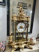 Antique French Brass/glass Clock