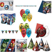 Avengers Birthday Party Theme Decorations Tableware Balloon Cup Plate Banner