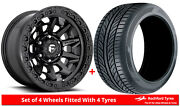 Alloy Wheels And Tyres 18 Fuel Covert D694 For Toyota 4runner [mk4] 02-09