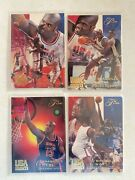 94 Flair Shaquille Oneal Usa Basketball 4 Card Lot I Will Include The Cool Box