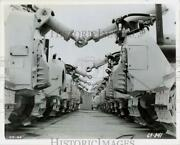 1969 Press Photo Rows Of 85,000-pound Crawler Tractors Built By General Motors