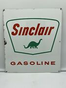 And03961 Authentic And Original And039and039sinclair Gasoline 13.5and039x12 Porcelain Sign