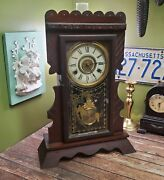 Outstanding New Haven Clock - Time And Strike Dated 1861 Wind Up Clock
