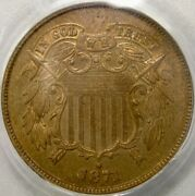 1871 Two Cent Piece Ddo Rare Gorgeous 960 Struck Pcgs Proof 65 Red Brown Pq+ Gem