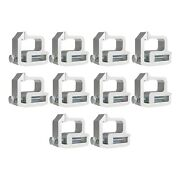 Aluminum Mounting Clamps Truck Caps Camper Shell Topper Fit For Chevy Silver