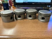 Continental A-65 Piston Set Of Four 4 Matching Set With Rings