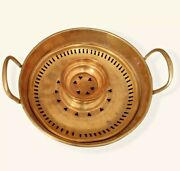 Old Antique Vintage Traditional Moroccan Brass Hand Wash Basin And Drain Insert