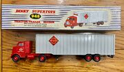 Dinky Toys 948 Mclean Tractor Trailer 1961-67 With Box Vintage Die Cast Toy