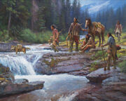 Martin Grelle Passage At Falling Waters Giclee On Canvas 50x40