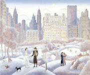 Thomas Mcknight Central Park Rendezvous Giclee On Canvas