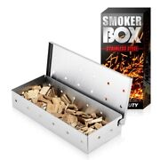 Bbq Smoker Box Wood Chips For Indoor Outdoor Charcoal Gas Barbecue Grill Meat