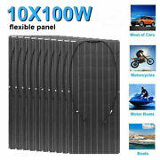 1000w Flexible Solar Panel 10x100w For Car Battery/boat/camping/rv/power Station