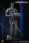 Hot Toys - Qs002 1/4 Terminator Die Casting Alloy T-800 Endoskeleton Action New