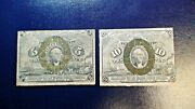 Two Circulated Fractional 5 And 10c Notes Fr 1232 And 1246 Buy It Now
