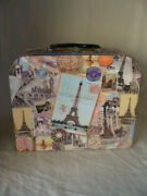 Storage Box Lunch Box Style Paperboard European Stamps Eiffel Tower And Locations